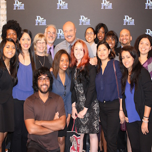 Students with Dr. Phil
